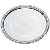 Vollrath 47262 Odyssey 14 inch Round Chrome Plated Tray