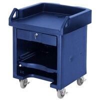 Cambro VCSHD186 Navy Blue Versa Cart with Heavy Duty Casters