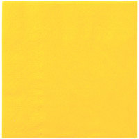 Hoffmaster 180340 Sun Yellow Beverage / Cocktail Napkin - 1000 / Case
