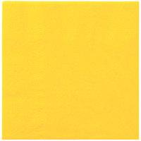 Hoffmaster 180340 Sun Yellow Beverage / Cocktail Napkin   - 1000/Case