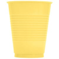 Creative Converting 28102081 16 oz. Mimosa Yellow Plastic Cup - 20 / Pack