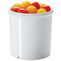 GET ML-295-W 16.5 oz. White Melamine Round Crock - 12 / Case