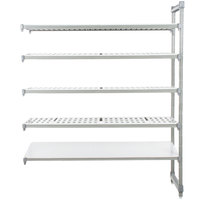 Cambro Camshelving Elements EA213684VS5580 Stationary Add-On Shelving Unit with 4 Vented Shelves and 1 Solid Shelf - 21 inch x 36 inch x 84 inch