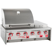 MagiKitch'n MKO45 45 inch Stainless Steel Built-In Outdoor Grill / Charbroiler