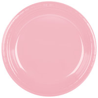 Creative Converting 28158031 10 1/4 inch Classic Pink Plastic Plate - 240 / Case