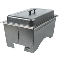 Sterno Products Silver Vein Knock Down Chafer with Lid and 2 Half Size Pans