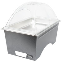 Sterno Products Full Size Silver Vein Stackable Chafer with Clear Dome Cover