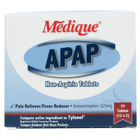 Medique 14564 APAP Acetaminophen Tablets - 24 / Box