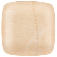Bambu 064300 5 inch Disposable Bamboo Square Appetizer Plate - 25/Pack