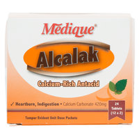 Medique 10164 Alcalak Antacid Tablets - 24 / Box