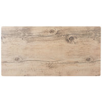 GET SB-2010-OW Granville 20 inch x 10 inch Melamine Faux Oak Wood Display - 3/Case