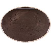 GET OP-1813-PCF Osslo 17 3/4 inch x 13 inch Pottery Coffee Flare Oval Melamine Platter - 3/Case