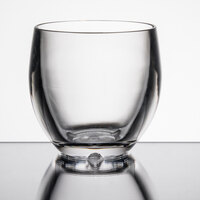 GET SW-1450-CL Roc N' Roll 8 oz. Clear SAN Plastic Stemless Wine Glass - 24/Case