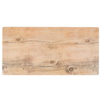 GET SB-1210-OW Granville 12 inch x 10 inch Melamine Faux Oak Wood Display - 6/Case
