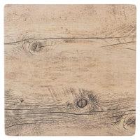GET SB-1010-OW Granville 10 inch x 10 inch Melamine Faux Oak Wood Display
