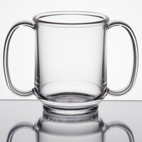 GET SN-103-CL 8 oz. Clear Tritan Two Handle Mug - 24/Case