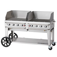 Crown Verity RCB-60WGP-LP 60 inch Pro Series Outdoor Rental Grill with Wind Guard Package