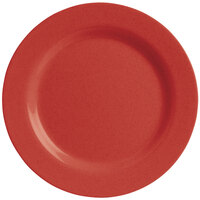 GET SZRP003R BambooServe 8 inch Round Bamboo Red Wide Rim Plate - 12/Case
