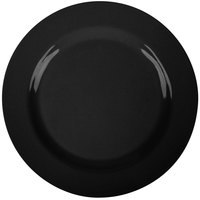 GET SZRP016B BambooServe 11 inch Round Bamboo Black Wide Rim Plate - 12/Case