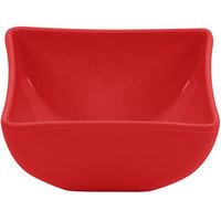 GET SZSB003R BambooServe 7 oz. Square Bamboo Red Bowl - 24/Case