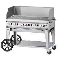 Crown Verity RCB-48WGP-SI-LP 48 inch Pro Series Outdoor Rental Grill with Single Gas Inlet and Wind Guard Package