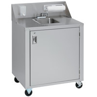Crown Verity CV-PHS-3C Triple Bowl Cold Water Portable Hand Sink Cart
