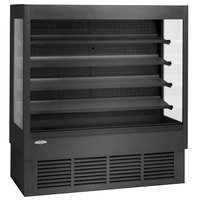 Federal Industries ERSSHP-378SC Elements Black 37 inch High Profile Air Curtain Merchandiser - 15.4 Cu. Ft.