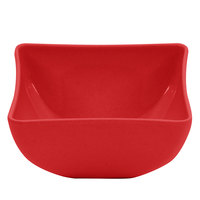 GET SZSB002R BambooServe 12 oz. Square Bamboo Red Bowl - 24/Case