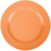 GET SZRP016O BambooServe 11 inch Round Bamboo Orange Wide Rim Plate - 12/Case