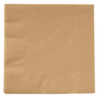 Creative Converting 803276B Glittering Gold 2-Ply Beverage Napkin - 50/Pack