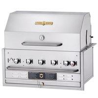 Crown Verity BI-30PKG 30 inch Stainless Steel Built In Outdoor BBQ Grill / Charbroiler with Roll Dome Package