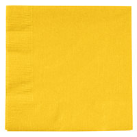 Creative Converting 801021B School Bus Yellow 2-Ply Beverage Napkin - 50/Pack