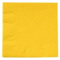 Creative Converting 801021B School Bus Yellow 2-Ply Beverage Napkin   - 50/Pack