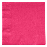 Creative Converting 139197154 Hot Magenta Pink 2-Ply Beverage Napkin   - 50/Pack