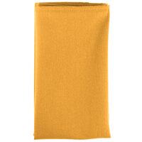 20 inch x 20 inch Gold Hemmed Polyspun Cloth Napkin - 12 / Pack
