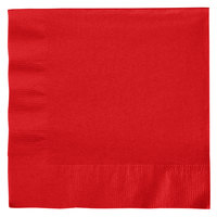 Creative Converting 661031B Classic Red 2-Ply 1/4 Fold Luncheon Napkin   - 50/Pack