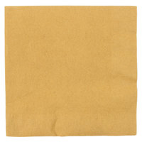 Creative Converting 663276B Glittering Gold 2-Ply 1/4 Fold Luncheon Napkin - 50 / Pack