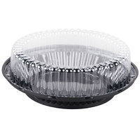 D&W Fine Pack J43-1 9 inch Black Pie Display Container with Clear High Dome Lid   - 160/Case