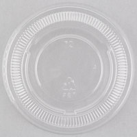 Choice PET Plastic Lid for 3.25 oz, 4 oz, and 5.5 oz. Souffle and Portion Cups   - 100/Pack