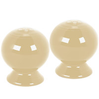 Homer Laughlin 497330 Fiesta Ivory Salt and Pepper Set - 4/Case