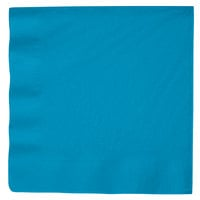 Creative Converting 593131B Turquoise Blue 3-Ply Paper Dinner Napkin - 25/Pack