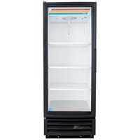 True GDM-12-HC-LD Black Glass Door Refrigerated Merchandiser with LED Lighting and Left Hinged Door - 12 Cu. Ft.