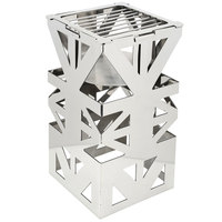 Eastern Tabletop 1743 LeXus 8 inch x 8 inch x 15 inch Stainless Steel Square Cube with Fuel Shelf and Grate