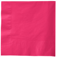Creative Converting 58177B Hot Magenta Pink 3-Ply 1/4 Fold Luncheon Napkin   - 50/Pack