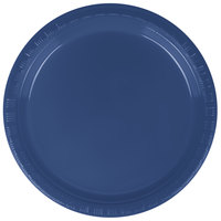 Creative Converting 28113711 7 inch Navy Blue Plastic Plate - 20/Pack