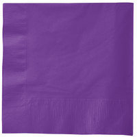 Creative Converting 318926 Amethyst 3-Ply 1/4 Fold Luncheon Napkin   - 50/Pack