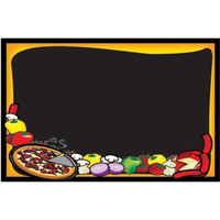Rainbow Sign Mfg. RMV-2436-P 24 inch x 36 inch Black Marker Board with Pizza Graphic