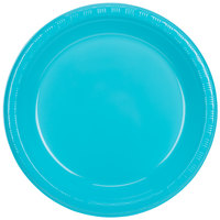 Creative Converting 28103931 10 inch Bermuda Blue Plastic Plate - 20/Pack