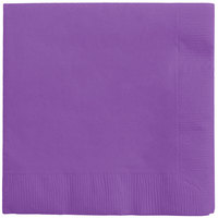 Creative Converting 318923 Amethyst 3-Ply Beverage Napkin - 50/Pack