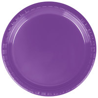 Creative Converting 318916 7 inch Amethyst Purple Plastic Plate - 20/Pack